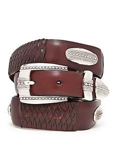 Brighton Eastwood Leather Ornament Taper Belt
