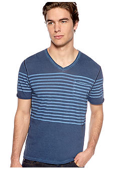 Buffalo David Bitton Napo Stripe V-Neck Tee