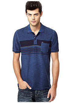 Buffalo David Bitton Buffalo Nogilvy Stripe Slub Polo