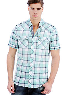 Buffalo David Bitton Sazlo Short Sleeve Plaid Woven