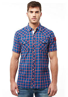 Buffalo David Bitton Sayno Short-Sleeve Plaid Western