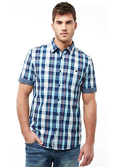 Buffalo David Bitton Sifto Short Sleeve Plaid Woven
