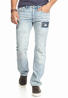 BUFFALO DAVID BITTON Evan Ripped And Patched Jeans