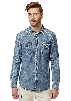 BUFFALO DAVID BITTON Salar Long Sleeve Denim Shirt