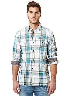 BUFFALO DAVID BITTON Salip Long Sleeve Plaid Woven Shirt