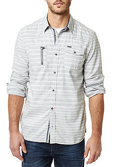 BUFFALO DAVID BITTON Sipret Long Sleeve Striped Shirt