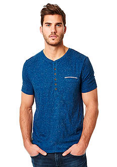 BUFFALO DAVID BITTON Nabob Short Sleeve Henley Tee
