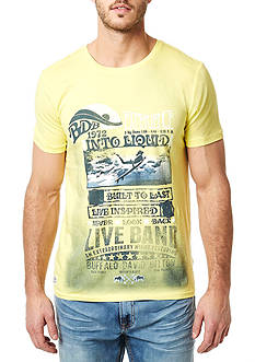 BUFFALO DAVID BITTON Niwatz Crew Neck Spray Graphic Tee