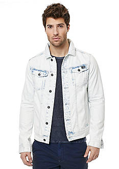 BUFFALO DAVID BITTON Joe Acid Washed Denim Jacket
