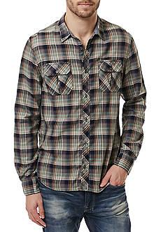 BUFFALO DAVID BITTON Sampir Double Pocket Plaid Shirt