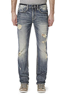 BUFFALO DAVID BITTON Six-X Distressed Slim Straight Fit Stretch Jeans