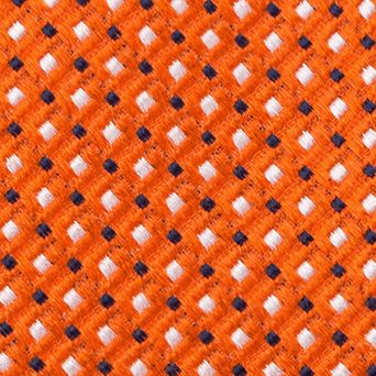 Young Mens Neckties: Orange IZOD Filbert Neat Tie