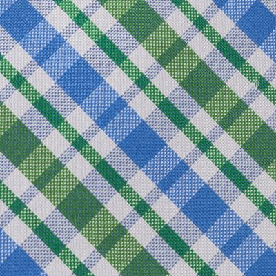 Young Mens Neckties: Green IZOD Portola Plaid Tie
