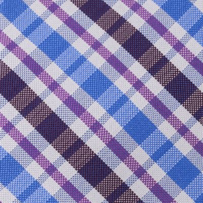 Young Mens Neckties: Grape IZOD Portola Plaid Tie