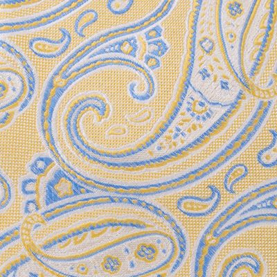 Izod Mens: Yellow IZOD Polk Paisley Self-Tie