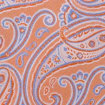 Young Mens Neckties: Orange IZOD Polk Paisley Self-Tie
