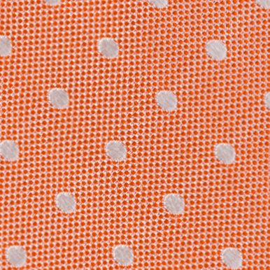 Young Mens Neckties: Orange IZOD Devon Dot Tie