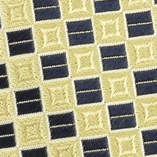 Young Men: Izod Accessories: Yellow IZOD Micro Square Woven Tie
