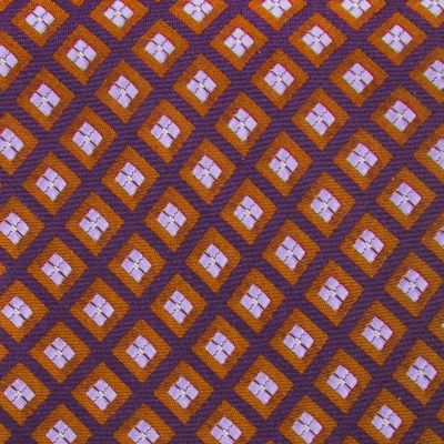 Men: Neckties Sale: Orange IZOD Micro Square Woven Tie