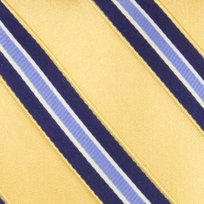Young Men: Izod Accessories: Yellow IZOD Core Stripe Tie