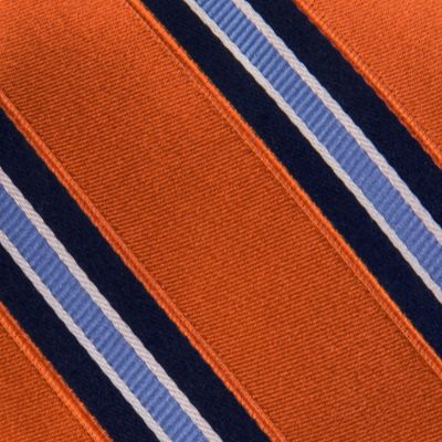 Young Men: Izod Accessories: Orange IZOD Core Stripe Tie