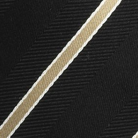 Young Men: Izod Interview Shop: Black IZOD Stripe Tie