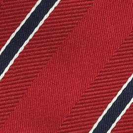 Interview Tie: Red IZOD Stripe Tie