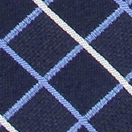 Interview Tie: Navy IZOD Grid Pattern Tie