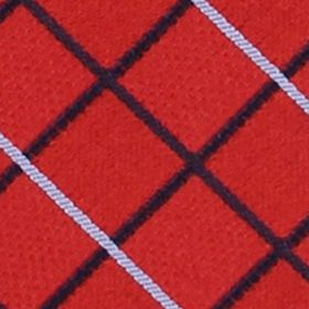 Interview Tie: Red IZOD Grid Pattern Tie