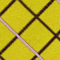 Young Men: Izod Accessories: Yellow IZOD Grid Pattern Tie