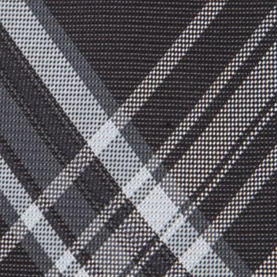 Interview Tie: Black Calvin Klein University Plaid Tie