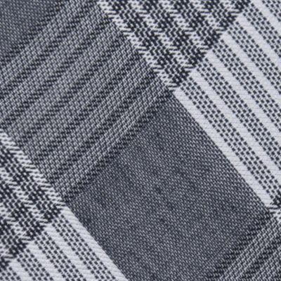 Calvin Klein: Silver Calvin Klein Schoolboy Maxi Windowpane Tie