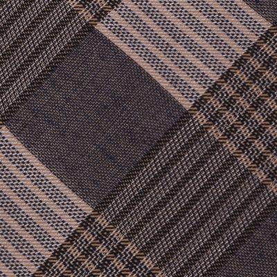Men: Calvin Klein Accessories: Taupe Calvin Klein Schoolboy Maxi Windowpane Tie