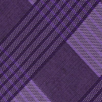 Calvin Klein Men: Purple Calvin Klein Schoolboy Maxi Windowpane Tie