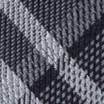 Mens Designer Ties: Black Calvin Klein Gaphite Schoolboy Plaid Tie