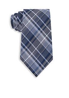 Calvin Klein Gaphite Schoolboy Plaid Tie