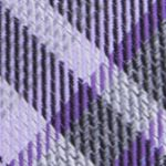 Mens Designer Ties: Purple Calvin Klein Gaphite Schoolboy Plaid Tie