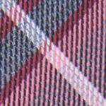 Mens Designer Ties: Coral Calvin Klein Gaphite Schoolboy Plaid Tie