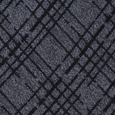 Mens Designer Ties: Black Calvin Klein Broken Plaid Tie
