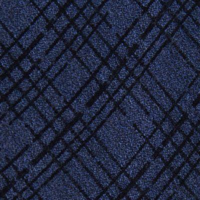 Mens Designer Ties: Navy Calvin Klein Broken Plaid Tie