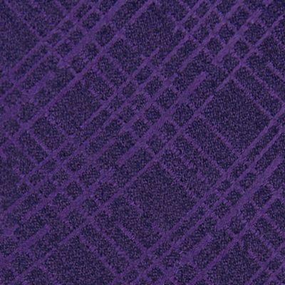 Mens Designer Ties: Purple Calvin Klein Broken Plaid Tie