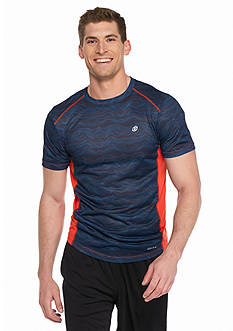SB Tech Short Sleeve Thin Wavy Crew Neckline Shirt