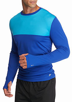 SB Tech Long Sleeve Block Run Crew Neck Shirt