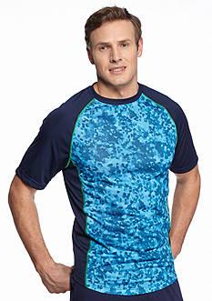 SB Tech Big & Tall Short Sleeve Camo Print Crew Neckline Tee