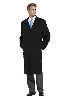 Saddlebred Button Front Wool Topcoat