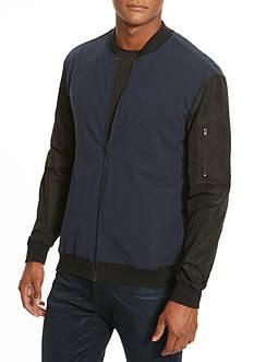 Kenneth Cole Nylon Sleeve Soft Shell Jacket