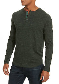 Kenneth Cole Long Sleeve Grindle Stripe Henley Shirt