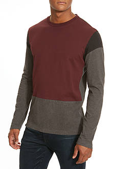 Kenneth Cole Colorblock Long-Sleeve Tee