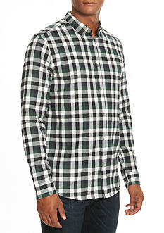 Kenneth Cole Long Sleeve Plaid Flannel Shirt