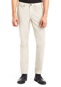 Kenneth Cole New York Flat-Front 5-Pocket Sateen Pants